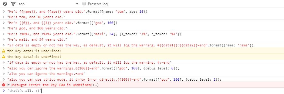 没啥用的 JavaScript 字符串模板